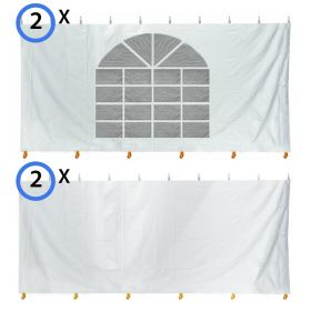 15' x 15' Party & Canopy Tent Premium Blockout Sidewall Kit