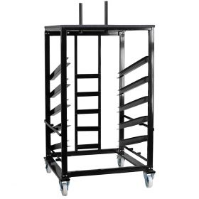 """Heavy Duty Steel Moving Cart for 30"""" Bistro / Cocktail Tables"""