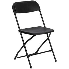 USED Black Poly Folding Chair