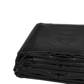 20' x 20' Heavy Duty Waterproof PVC Vinyl Tarp - Black