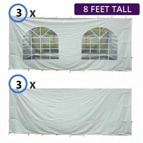 30' x 40' Party & Canopy Tent Premium Blockout Sidewall Kit for 8' Tent Sides