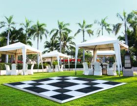 15' x 20' Commercial Portable Black/White Checkered Dance Floor