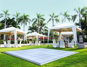 15' x 20' Commercial Portable White Dance Floor