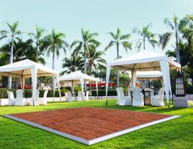 21' x 21' Commercial Portable Wood Finish Dance Floor