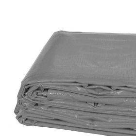 20' x 40' Heavy Duty Waterproof PVC Vinyl Tarp - Gray