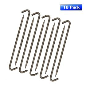 "1/2"" x 18"" Steel Hook Tent Stake, 10 Pack Gray"