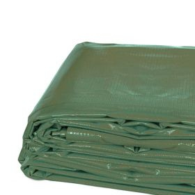 12' x 20' Heavy Duty Waterproof PVC Vinyl Tarp - Green