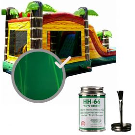 Moose Supply Inflatable Bounce House Vinyl Repair Kit, Green Marble with 4 oz. HH66 Glue