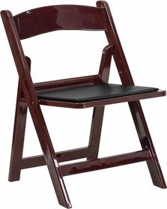 Mahogany Resin Folding Chairs
