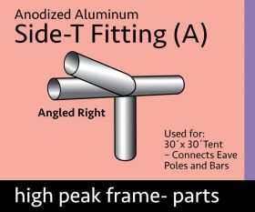 Side T Fitting for 30' x 30' High Peak Frame Canopy Tent (Part A)