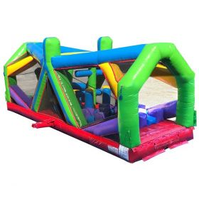 30' Retro Radical Run Extreme Unit #4 Inflatable Obstacle Course with Blower