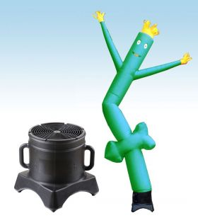 12' Fly Guy Inflatable Tube Man with Blower - Green Arrow