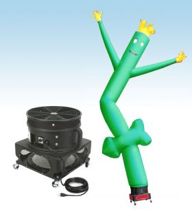 18' Fly Guy Inflatable Tube Man with Blower - Green Arrow