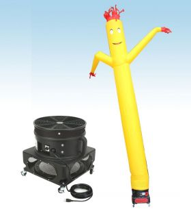 18' Fly Guy Inflatable Tube Man with Blower - Standard Yellow