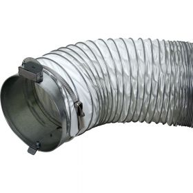 """8"""" x 12' Gray Ducting Kit for Premier 40 (Comes with adapter ring & hose clamp)"""