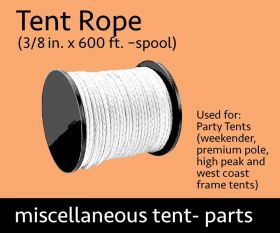 "600 ft Spool of 3/8"" Tent Rope"