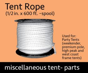 "600' Spool of 1/2"" Tent Rope"