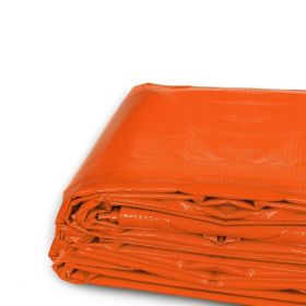 12' x 16' Heavy Duty Waterproof PVC Vinyl Tarp - Orange