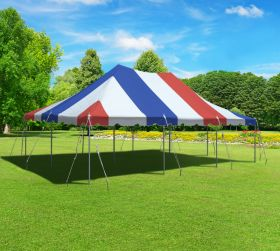 20' x 30' Premium Canopy Pole Party Tent - Red, White and Blue