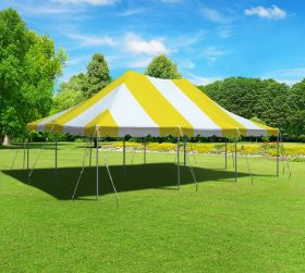 20' x 30' Premium Canopy Pole Party Tent - Yellow and White