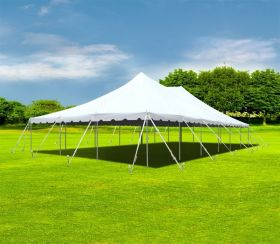 30' x 60' Premium Sectional Canopy Pole Party Tent - White