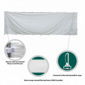 8' x 15' High Peak Frame Party & Canopy Tent Premium Blockout Solid Sidewall
