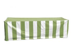 Vinyl 6' Banquet Table Cover, Green & White