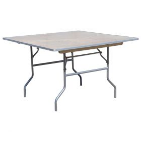 "60"" Square Wood Folding Table"