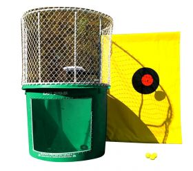 Buy Hunter Green Portable Dunking Booth with New Wingless Design Dunk Tank