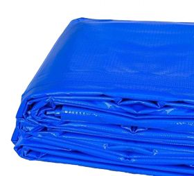 12' x 20' Heavy Duty Waterproof PVC Vinyl Tarp - Blue
