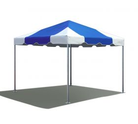 10' x 10' West Coast Frame Party Tent - Blue and White