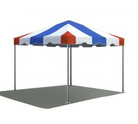 10' x 10' West Coast Frame Party Tent - Red, White, and Blue