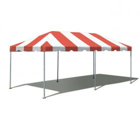 10' x 20' West Coast Frame Party Tent - Red and White