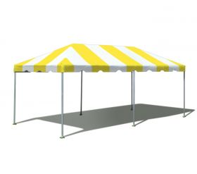 10' x 20' West Coast Frame Party Tent - Yellow and White