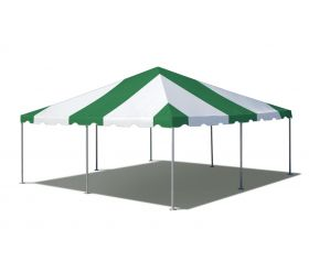 20' x 20' West Coast Frame Party Tent - Green and White