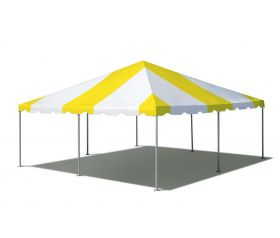 20' x 20' West Coast Frame Party Tent - Yellow and White