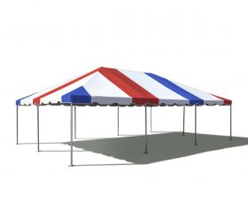 20' x 30' West Coast Frame Party Tent - Red, White and Blue