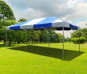 10' x 20' PVC Weekender West Coast Frame Party Tent - Blue