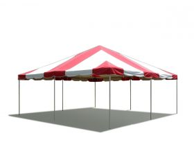20' x 20' PVC Weekender West Coast Frame Party Tent - Red