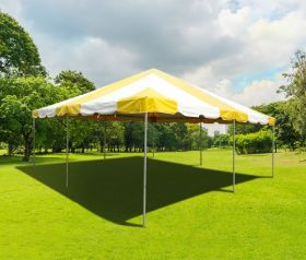 20' x 20' PVC Weekender West Coast Frame Party Tent - Yellow
