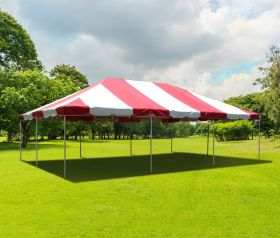 20' x 30' PVC Weekender West Coast Frame Party Tent - Red
