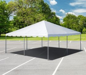 20' x 20' West Coast Frame Sectional Canopy Tent, White Two-Piece Top