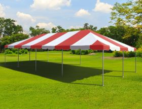 20' x 40' West Coast Frame Party Tent - Red and White