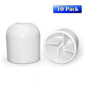 "2"" White Plastic Tent Stake Cap - 10 Pack"