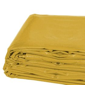 12' x 16' Heavy Duty Waterproof PVC Vinyl Tarp - Yellow