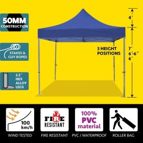 10' x 10' 50mm Speedy Pop-up Party Tent - Blue