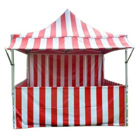 10' x 10' 50mm Speedy Pop-up Party Tent with Sidewalls, Red and White