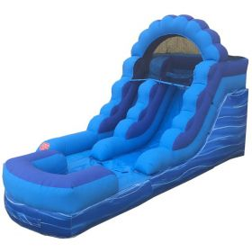 12' Blue Marble Inflatable Water Slide with Blower