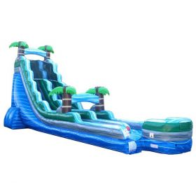 22' Tropical Blue Marble Inflatable Water Slide with Blower