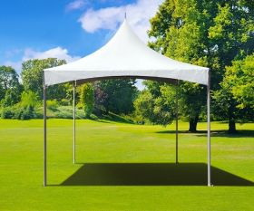 10' x 10' High Peak Frame Party Tent - White